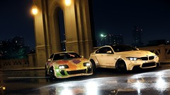 BMW M4 Coupe (F82) and Toyota Supra RZ (nikitin92) Tags: game screenshots vidoegame nfs needforspeed2016 bmw m4 coupe toyota supra rz car sportscar racing road pc 4k