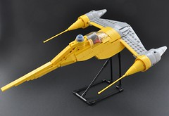 Naboo N-1 starfighter (2) (Inthert) Tags: naboo lego moc ship star wars n1 phantom menace r2d2 fighter royal starfighter tail