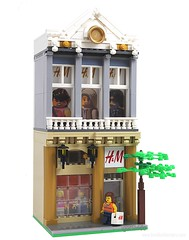Lego H&M (lgorlando) Tags: city fashion shop store clothing lego supermodel boutique hm modualr