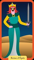 Reine d'pe (aluniverse) Tags: btons coupes pes deniers tarotdemarseille arcanesmineurs arcanemineur 56cartes