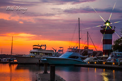 Harbour Town Light House (Bill Varney) Tags: sunset lighthouse island coast hiltonhead harbourtown photobybillvarney