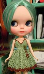 Madison  (*Blythette*) Tags: aqua factory turquoise teal blythe custom seagreen