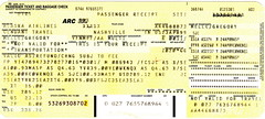 AS 1999-04-24 Alaska Air Ticket/Baggage/Receipt (CanadaGood) Tags: usa america air airline ticket 1999 colour color yellow ephemera canadagood canada nineties scanned