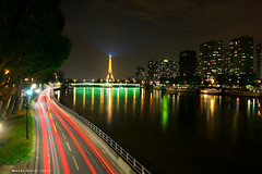 Paris vu du Pont Mirabeau (mj.foto) Tags: longexposure paris night nikon eiffeltower nikkor pontmirabeau 2470f28 d700 markjosue