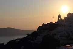 Sunset, Fira (anu) Tags: steeple santorini greece ia greekislands santorin oia grece thira fira greekchurch orthodoxchurch      ilesgrecques