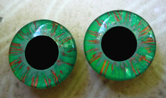 Handpainted Blythe Eyechips Emerald Copper