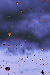 FLASHLIGHT (zabavnova) Tags: sky night clouds moscow dream flashlight wish fireflies