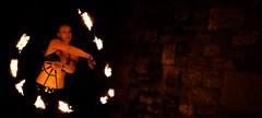 Fire Spinning 18 - University Of Plymouth, UK (Janicskovsky) Tags: park uk greatbritain england people woman slr girl stone wall contrast pose fire person fan nikon friend britain group performance plymouth highcontrast flame devon firespinning session fans juggling dslr performer firenight collumn paraffin jugglingclub firefans d80 universityofplymouth nikond80 upjc sherwellpark