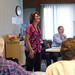 Anne Kaufman Weaver '88 facilitates a lively discussion about new fundraising strategies for the EMU science campaign.
