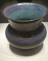 Rose-violet glazed porcelain flowerpot, Jun Ware, Song Dynasty 9601279 (sftrajan) Tags: china beijing muse museo   porcelain peking chineseart bijng songdynasty   nationalmuseumofchina  chineseceramics  junware  zhnggugujibwgun chinesischesnationalmuseum musenationaldechine