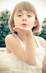 blow a kiss (megscapturedtreasures) Tags: portrait white cute girl female youth high kiss key young adorable kisses blowing cutie blow blonde sundress rememberthatmomentlevel1