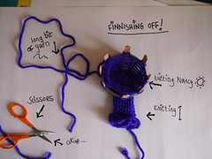 1. How to finish a knitting Nancy (birdlouise) Tags: circle french knitting craft off cast nancy finish