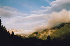 a real trick (Careless Edition) Tags: italy cloud film nature fog analog photography nikon f65 dolomites rosengarten welschnofen