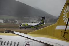 Flugzeug Sky Work Dash 8-400 HB-JGA  am Flugplatz / Flughafen Bern Belpmoos bei Bern in der Schweiz (chrchr_75) Tags: juni schweiz switzerland suisse swiss bern flughafen christoph svizzera flugplatz 2012 suissa 1206 chrigu kantonbern belpmoos chrchr hurni chrchr75 chriguhurni juni2012 hurni120625 chriguhurnibluemailch albumzzz201206juni