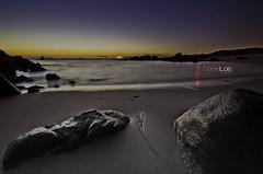 Con Negro Beach at night (O Grove Pontevedra) (Daniel Lois (SincoZH)) Tags: longexposure sea espaa beach night mar stand spain nikon exposure grove sigma playa galicia 1020mm pontevedra riasbaixas riasbajas ocen ogrove d7000