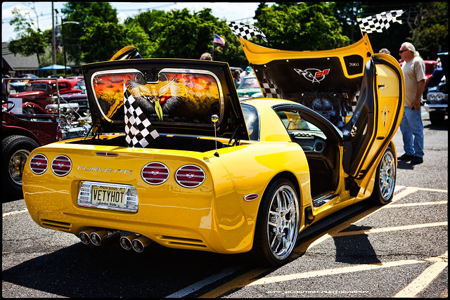 2003 chevrolet yellow racecar painting automobile gm track fast chevy custom corvette carshow sportscar z06 generalmotors gmfyi