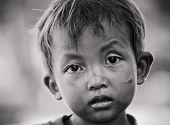 The 1000 Yard Stare: battered, bruised, and dirty, and with a long scar running across his nose, a young Cambodian boy soldiers on.... (DMac 5D Mark II) Tags: cambodia siemreap young boy asia asian survivor poor poverty people travel tourism culture the1000yardstare wwwfredmirandacom fredmiranda camera lens reviews instagram nature natural douglasmacdonald photographer getty gettyimages google daum naver baidu yahoo news jeju south korea photos photography photojournalism tourists family fun southkorea photojournalist thejejuweekly newspaper magazine flickr photo foto fotos