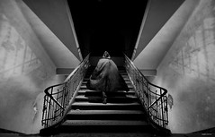 The haunting (Angel Valencia) Tags: bw stairs capa bn phantom escaleras laguarida lacasaencantada fantansma oltusfotos