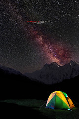 A room with a view :) (Usman Hayat) Tags: night stars nikon long exposure slow wide meadows tent fairy shutter nikkor ultra hayat d800 usman nanga parbat 1424 uhayat