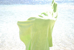(EYLUL ASLAN) Tags: blue sea summer man green digital turkey towel 2012 bozcaada