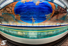 Art is everywhere (A.G. Photographe) Tags: fish paris france subway french nikon raw mtro fisheye ag fx 16mm hdr fayette parisian anto d800 parisienne xiii parisien chaussedantin antoxiii photoengine hdr5raw oloneo agphotographe hdrengine oeilpoisson