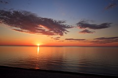 Sunset @ 12 MIle Beach (sdj~photos) Tags: sunset up michigan picturedrocksnationallakeshore 12milebeach