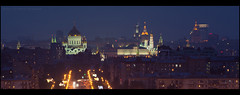 Evening Moscow. (Yuri Degtyarev) Tags: city light night evening moscow g sony tripod yuri alpha sal kremlin ssm  slik  nex  degtyarev 70400  sal70400g nex5 laea2