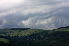 hills and clouds (Pezski) Tags: trees england sky lake english water skyline clouds canon woodland landscape countryside woods britain sheffield horizon reservoir hills fields british southyorkshire 40d brookhead