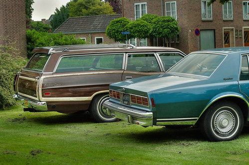 Chevrolet Caprice Classic and Ford LTD Country Squire
