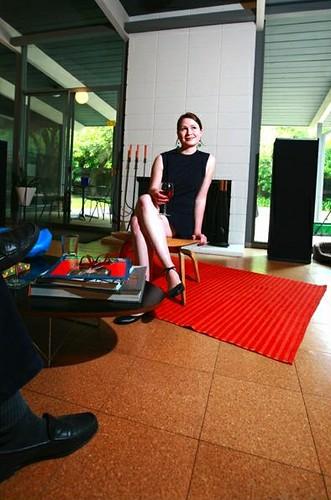 Model in SacMod co-founder Dane Henas' Eichler home