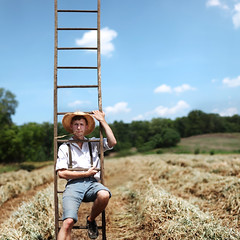 Indiana Rob. (David Talley) Tags: sunlight field farm country indiana sunny ladder cloudes robwoodcox