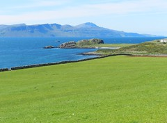 Oscaig Point, Isle of Raasay, June 2012 (allanmaciver) Tags: blue houses green contrast point island spread colours together remote commuity raasay allanmaciver ascaig