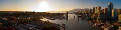 Burrard Street Bridge Panorama Vancouver 2012 (Gord McKenna) Tags: street bridge sunset panorama canada west english vancouver creek island bay bc stitch granville pano columbia end british burrard gord false freighters mckenna gordmckenna gordmckennacom