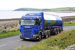 Scania R420 milk tanker PX07 EXB (gylesnikki) Tags: blue truck scotland milk scenery scottish sa artic tanker