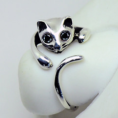 Sterling Silver Cat Ring - Black (LennonLipeng) Tags: catring sterlingsilverring blackring silvercatring 925silverring