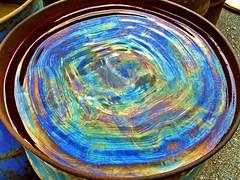 kicked bucket (Mr.  Mark) Tags: toronto colour water photo rainbow industrial spectrum drum kick ripple stock barrel oil portlands markboucher