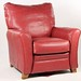 134. Contemporary Leather Club Chair