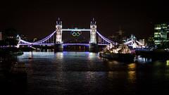 Tower Bridge Olympic Rings (garryknight) Tags: london thames towerbridge river nikon rings creativecommons olympic lightroom 50mmf18 flickrexplore d5100