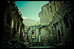 In ruins {Bellapais Abbey} {Explored} (Christiana C.) Tags: castles palaces cottages statelyhomes manorhouses
