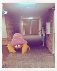 #HUGE FRIGGIN' #pokemon in my #hallway #corridor!!! #PokemonGo (blackunigryphon) Tags: instagramapp square squareformat iphoneography uploaded:by=instagram 1977