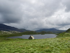 Loch Stack, North West Sutherland, July 2016 (allanmaciver) Tags: loch stack clouds dramtic scenery green wind blow bleak house abandoned sutherland north west allanmaciver