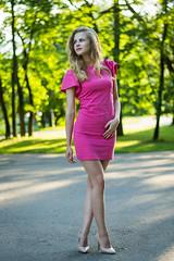 DSC_0113-5 (Patho1ogy) Tags: minsk belarus nikon d3100 girl summer snile dress pink happy beauty beautiful green eyes hair city hot friend lovely