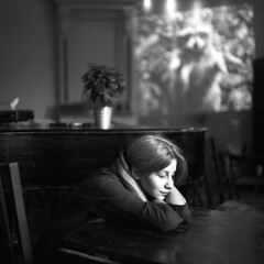 summer time in saint-p sadness (ireenkiwi) Tags: film portrait portfolio spb girl grey young light sad silence summer feeling face fashion medium mediumformat pentacon calzeiss