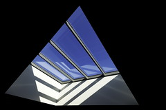 Spacetravelling (Maerten Prins) Tags: nederland netherlands druten pax school window roof atrium blue sky shadow triangle square geometry geometric skylight composition abstract