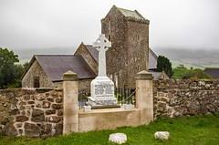 St Cenydd Church's Llangennith (dgmann11) Tags: architecture church mist memorial war stone wales grass wall