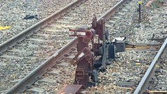 """semaphore """"dolly"""" signals (sth475) Tags: railway railroad infrastructure signal mechanical semaphore shuntingsignal track lithgow yard bluemountains mainwest centraltablelands nsw australia spring dwarfsignal dolly dollysignal wrongroad"""