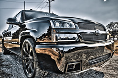 23 (Strangely Different) Tags: diesel chevy 1500 powerstroke ford silverado slammed jacked force american 22x14 1958 delray