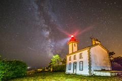 Stars of Sainte Marine (Howard Brown) Tags: starscape astrophotography milkyway lighthouse landscape seascape clearnight longexposure fisheye