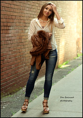 IMG_0491_A shot in the alley...with Megan Tice (donaldbrainard1) Tags: girl jeans blouse fashion heels clogs legs face beautiful standing alley brick model canon 7d lovely posing expression jacket lighting natural color fashionable female