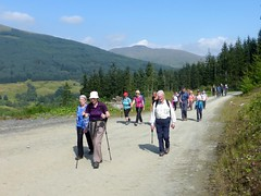 Ramblers in Strathyre Forest (luckypenguin) Tags: scotland strathyre ramblers walk path forestrycommissionscotland stirling trossachs